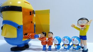 Doraemon go into a Spo Spo minion!Gnawed by Spo Spo crocodile!for kids!yupyon