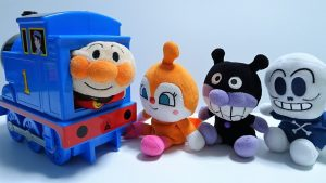 Anpanman,Baikinman and Dokinchan go into the Spo Spo Thomas!for kids!yupyon