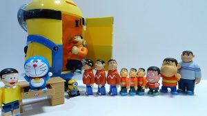 Doraemon,Nobita is surprised at Gian coming out from Big Minion!for kids!yupyon