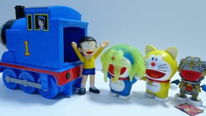 Doraemon go into the Spo Spo Thomas!Doraemon change color with slime!for kids!yupyon