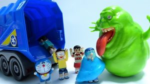 Doraemon go into garbage truck Spo Spo from Slimer!Working car!for kids!yupyon
