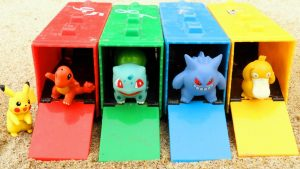 Pokemon Pikachu Ash Learn Colors & Numbers with Pokemon Truck Garage and Cars Mack for Kids