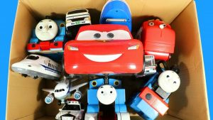 Box Full Of Toys McQueen Cars Thomas and Friends Action Figures Learn Street Vehicles Names for Kids