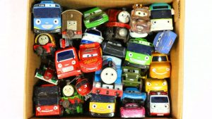 Box Full Of Toys Disney Cars & Thomas and Tayo the Little Bus - Learn Colors & Numbers & Names