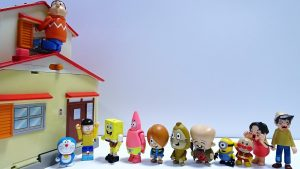 Doraemon and Sponge Bob enter Nobita's room Spo Spo from the window!for kids!yupyon