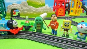 Thomas,Doraemon's Insect collecting!Gian mistook for beetle and caught Gachapin!for kids!yupyon