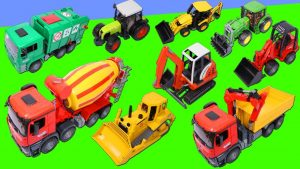 Excavator, Dump Truck, Tractor, Fire Truck, Police Car, Construction & Emergency Vehicles Bruder Toy