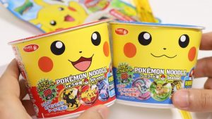 Pokemon Cup Ramen Noodles with Pokemon Toppings