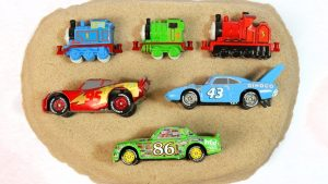 Disney Cars & Thomas and Friends Train Toys - Learn Colors & Numbers with Sand Puzzle for Kids