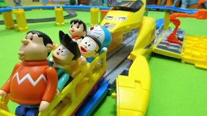 Doraemon escapes from Vehicle Maintenance Base of Big Doctor Yellow!yupyon