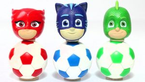 Pj Masks Wrong Heads Surprise Soccer Balls Toys, Learn Colors with Disney Cars & Thomas and Friends