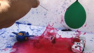 Disney Cars McQueen Makeover with water balloons - super wings Learn Colors & Numbers for kids