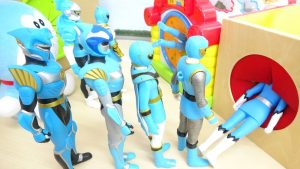 Blue Heroes Step Into Mystery 3 Boxes Power Rangers and Doraemon  3連すぽすぽ手探りボックス