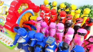 Various Colors Power Rangers Go into Box Compilation 手探りボックス すぽすぽ動画まとめ
