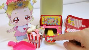 Precure Popcorn Machine Paper Craft